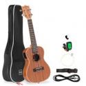 Deals List: BCP 23in Acoustic Electric Concert Sapele Ukulele Starter Kit