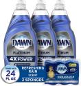 Deals List: 3CT Dawn Dish Soap Platinum Dishwashing Liquid + 2 Sponges