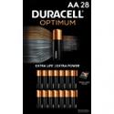 Deals List: 28-Pack Duracell Optimum AA Batteries