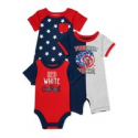 Deals List: 3-Pack Baby Boys Patriotic 4th of July Rompers and Bodysuit