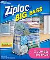 Deals List: Ziploc Storage Bags, Double Zipper Seal & Expandable Bottom, Jumbo, 3 Count, Big Bag