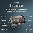 "Deals List: All-new Fire HD 10 tablet, 10.1"", 1080p Full HD, 32 GB, latest model (2021 release)"