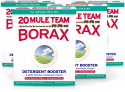 Deals List:  4-Pack of 65oz 20 Mule Team Borax Detergent Booster & Multi-Purpose Household Cleaner