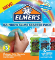 Deals List: Elmer's Rainbow Slime Starter Kit with Green, Blue and Red Glitter Glue, 6 Ounces Each, 3 Count
