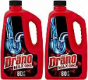 Deals List: Drano Max Gel Drain Clog Remover and Cleaner for Shower or Sink Drains, Unclogs and Removes Hair, Soap Scum, Blockages, 80 oz- Pack of 2