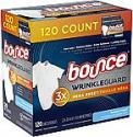 Deals List: 120-Ct Bounce WrinkleGuard Mega Fabric Softener and Wrinkle Releaser Sheets (Outdoor Fresh)