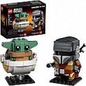 Deals List: LEGO BrickHeadz Star Wars The Mandalorian & The Child 75317 Building Kit New 2020 (295 Pieces)