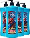 Deals List: Suave Kids 3 in 1 Shampoo Conditioner Body Wash For Tear-Free Bath Time, Fresh Spider-Sense, Dermatologist-Tested Kids Shampoo 3 in 1 Formula 28 oz, Pack of 4
