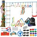 Deals List: hooroor Ninja Warrior Obstacle Course for Kids-66FT
