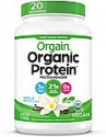 Deals List: Orgain Organic Plant Based Protein Powder, Vanilla Bean - Vegan, Low Net Carbs, Non Dairy, Gluten Free, Lactose Free, No Sugar Added, Soy Free, Kosher, Non-GMO, 2.03 Pound