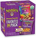 Deals List: Annie's Organic, Snack Variety Pack, Cheddar Bunnies and Bunny Grahams, 1 oz, 36 ct