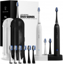 Deals List: AquaSonic Duo Dual Handle Ultra Whitening 40,000 VPM Wireless Charging Electric ToothBrushes - 3 Modes with Smart Timers - 10 Dupont Brush Heads & 2 Travel Cases Included
