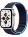 Deals List: New Apple Watch SE (GPS + Cellular, 44mm) - Silver Aluminum Case with Deep Navy Sport Loop