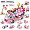 Deals List: Panlos Stem 553-Pcs Ice Cream Car Set Building Bricks Toy