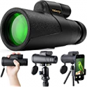 Deals List: Vabogu Monocular Telescope 12x50 High Power w/Smartphone Holder
