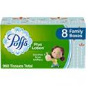 Deals List: Puffs Plus Lotion Facial Tissues 8 Family Boxes 120 Count