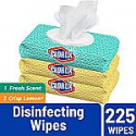 Deals List: Clorox Disinfecting Wipes, Bleach Free Cleaning Wipes, Fresh Scent, Moisture Lock Lid, 75 Wipes, Pack of 3
