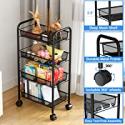 Deals List: Aiyaka 4-tier Metal Utility Rolling Storage Craft Cart