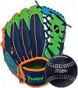 "Deals List: Franklin Sports 9.5"" Right Hand Throw Glove & Foam Ball Set (Navy/Lime/Orange)"