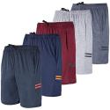Deals List: 5-Pack Mens Dry Fit Sweat Resistant Active Athletic Shorts