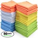 Deals List: 50-Pack Best Microfiber Cleaning Cloths Towels