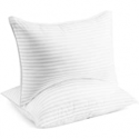 Deals List: Beckham Hotel Collection Bed Pillows for Sleeping - Queen Size, Set of 2 - Cooling, Luxury Gel Pillow for Back, Stomach or Side Sleepers