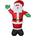 Deals List: Wderni 6ft Inflatable Santa Claus w/LED Light, Water Bag & Pump