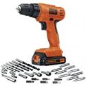 Deals List: Black + Decker LD120VA 20-V Max Lithium Drill w/30 Accessories