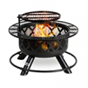 Deals List: Bali Outdoors Wood Burning Fire Pit Backyard w/Cooking Grill