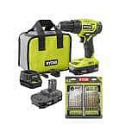 Deals List: RYOBI ONE+ 18V 1/2 in. Drill/Driver Kit with (2) 1.5 Ah Batteries, Charger, Bag, and 22-Piece Titanium Drill Bit Kit