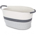 """Deals List: Home Zone Living 13.38"""" Woven Basket with 2 Cotton Rope Handles"""