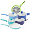 Deals List: Mainstays 10 Piece White Ceramic Non-stick Cookware Set