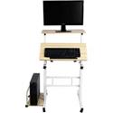 Deals List: Mind Reader 2-Tier Adjustable Mobile Sit & Stand Workstation Desk