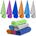 Deals List: 6 Pack Cooling Towel,Ice Towel, Soft Breathable Chilly Towel
