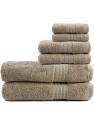 Deals List: TRIDENT Soft and Plush|100% Cotton|Highly Absorbent|Bathroom Towels |Super Soft|6 Piece Towel Set (2 Bath Towels|2 Hand Towels|2 Washcloths) 500 GSM|Charcoal