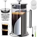 Deals List: QUQIYSO French Press Coffee Maker 34 Oz