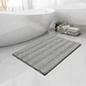 Deals List: Easy-Going Luxury Chenille Striped Pattern Bath Mat