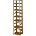 Deals List: Niche Flip Flop Square Folding Bookcase, 67-inch, Medium Oak