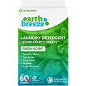 Deals List: Earth Breeze - Liquidless Laundry Detergent Sheets - Fresh Scent - No Plastic (60 Loads) 30 Sheets