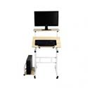 Deals List: Mind Reader SDROLL-WHT Mobile Sitting, Standing Desk