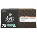 Deals List: 75Ct Peets Coffee Major Dickasons Blend K-Cup Pods Dark Roast