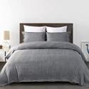 Deals List: 3-Piece Kinbedy Simulated Linen Soft Duvet Cover Set, King