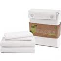 Deals List: Lane Linen 100% Organic Cotton Pure White Twin-Sheets 3-Piece