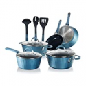 Deals List: 11-Pcs NutriChef Nonstick Cookware Excilon Pots & Pan Set