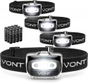 """Deals List: Vont """"Spark"""" LED Headlamp [Batteries Included] IPX5 Waterproof, with Red Light, 7 Modes, Head Lamp, for Running, Camping, Hiking, Fishing, Jogging, Headlight Headlamps for Adults & Kids (4)"""