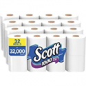 Deals List: Scott 1000 Sheets Per Roll Toilet Paper, 32 Rolls (4 Packs of 8), Bath Tissue