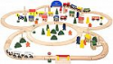 Deals List: Battat - Deluxe Wooden Train – Classic Toy Train Set with Magnetic Trains, Tracks, Vehicles, Buildings & Accessories for Kids Aged 3 & Up (102Pc)