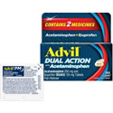 Deals List: Advil Dual Action with Acetaminophen and Ibuprofen for 8 Hour Pain Relief, Coated 144 ct Caplets + 2 ct. Sample of Advil PM