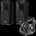 Deals List: JBL Studio 530 Bookshelf Loudspeakers + JBL CLUB 700BT Headphones