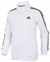 Deals List: adidas Boy's Zip Front Iconic Tricot Jacket (White)